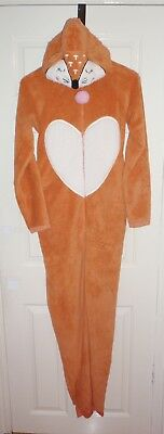 BNWT Primark womens hooded fleece FOX all in one pyjamas size UK 6 - 8