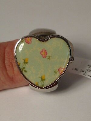 JCpennys Cute Unique Ring Watch Heart Shaped Stretch Band Women's Watch DCR107