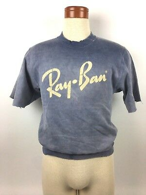 Ray-Ban Sunglasses by Bausch & Lomb Vintage Sweatshirt Muscle Shirt Small  *S66