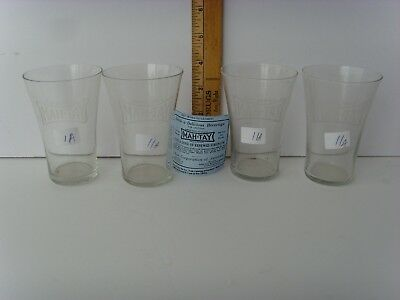 "4 ""York, PA."" Soda Fountain Advertising Glasses 4"" circa 1920's 41/11A"