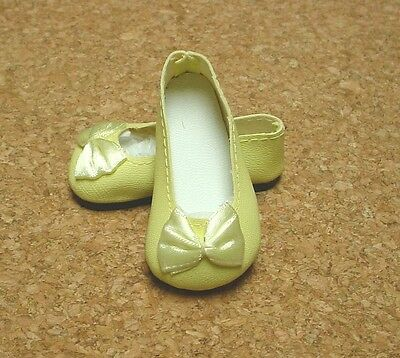 CREAM 58mm Slip on Flats with Bow Doll Shoes