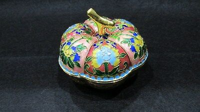 Vintage Chinese Cloisonne Bowl With Stemmed Lid