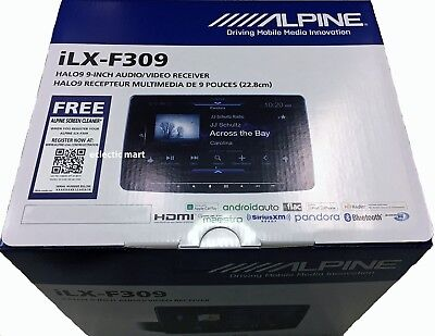"Alpine HaIo9 iLX-F309 In-Dash 9"" Digital Media Rcvr  Apple Car Play iPhone"