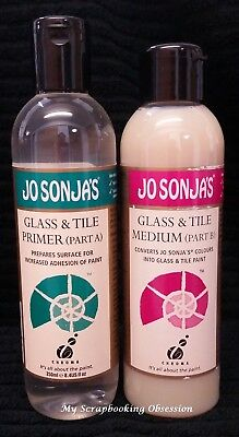 Jo Sonja's 'GLASS & TILE MEDIUM' 250ml Acrylic Paint (You choose) Painting