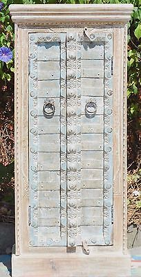 Indian Antique Door Wardrobe Cupboard Storage Vintage Statement Cabinet