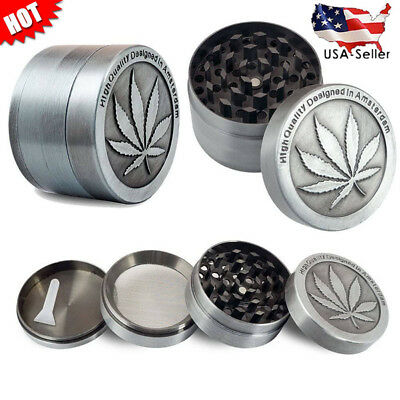 Tobacco Herb Grinder Spice Herbal Alloy Smoke Crusher 4 Piece Metal Muller NEW