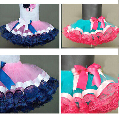 Kids Girls Tulle Tutu Skirt Mini Ballet Princess Style Party Fancy Bubble Skirt