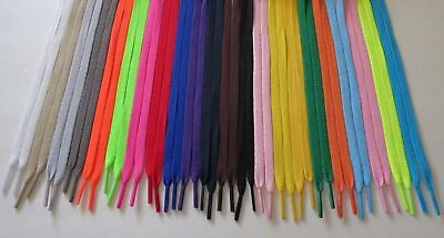 "1 Pair  Flat Shoelaces 47"" inch 29 Colors Shoe Strings USA Seller FREE SHIPPING"