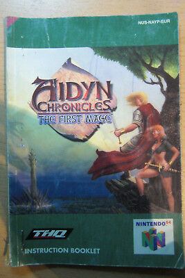 Nintendo 64 Aidyn Chronicles - The First Mage Anleitung original engl.