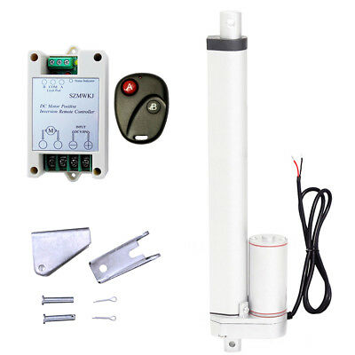 """Linear Actuator 12"""" Stroke 1000N 12V DC Motor & Wireless Controller For Electric"""