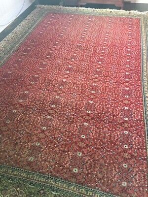 Kayseri Turkish Rug 3.1 X 2.4 M 1979 100% Pure Wool On Cotton Red Floral Design