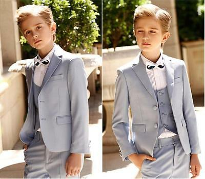 8e6f3a1ed NEW WHITE BOYS Suit Wedding Pageboys Tuxedos 3 Piece Kids Formal ...