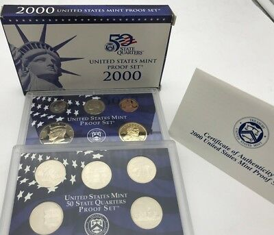 United States 2000 Proof Mint Set 50 State Quarters USA - United States KMS