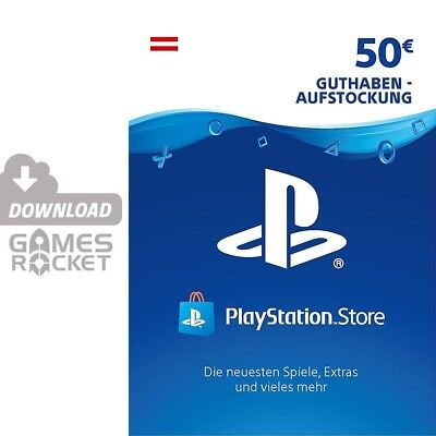 50€ PSN AT Playstation Network Code Card 50 Euro € EUR | PS4, PS3, Vita Guthaben