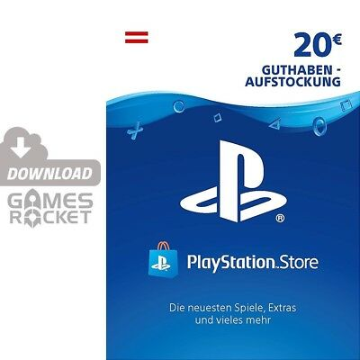 20€ PSN AT Playstation Network Code Card 20 Euro € EUR PS4 PS3 Vita Guthaben 50