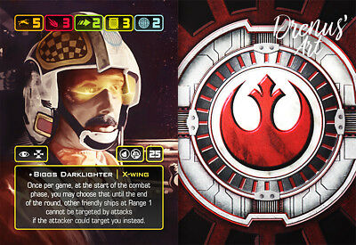 X-Wing Miniatures - Custom Alt Card - Biggs Darklighter (X-Wing)