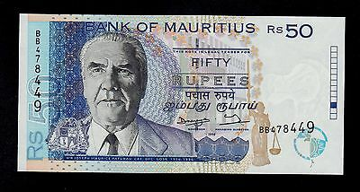 Mauritius 50 Rupees 1998  Bb Pick # 43 Unc Banknote.