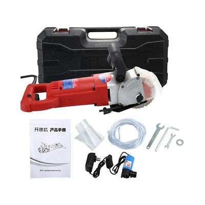 Electric Wall Chaser Groove Cutting Slotting Machine Steel Concrete Cutters 220V