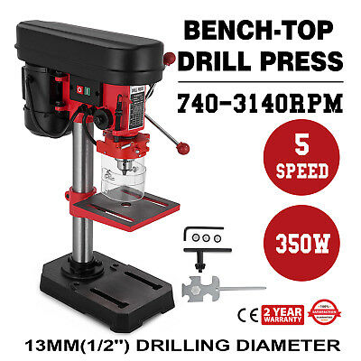 Drill Press 8 In. Table Bench Top Variable Speed Laser Centering Woodworking
