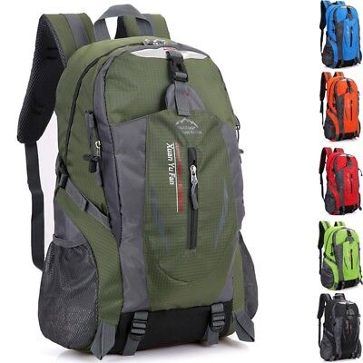 Outdoor 40L Waterproof Camping Backpack Hiking Travel Daypack Large Rucksack Bag
