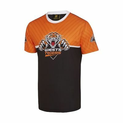 Wests Tigers 2018 NRL Mens Sublimated Tee Shirt BNWT Rugby League Clothing