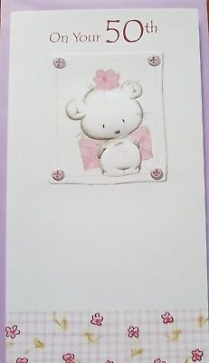 Happy 50Th Birthday Greeting Card Mum Daughter Sister Girlfriend Wife New