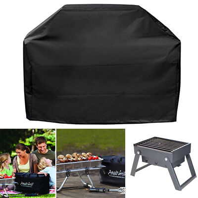 BBQ Grill Cover 5 Sizes Black Waterproof Heavy Duty Outdoor Barbecue Protector