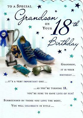 Stunning modern design to a special grandson on your 18th birthday stunning modern design to a special grandson on your 18th birthday greeting card m4hsunfo