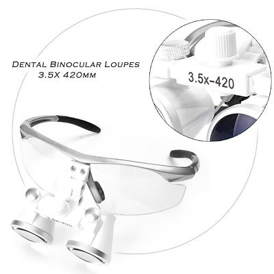 3.5X420mm Dental Loupes Surgical Glasses with LED Head Light Lamp for Dentists