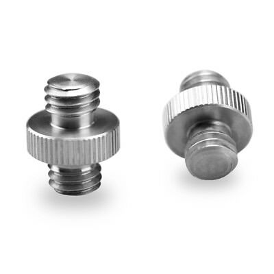 "SmallRig 2pcs Double Head Stud Adapter pack with 3/8"" Male to 3/8"" Male thread"