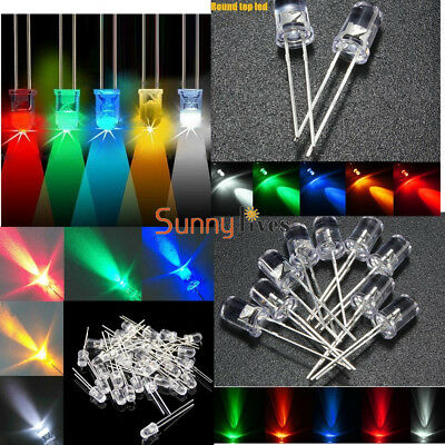 6 Kind 5mm Round Red/Green/Blue/Yellow/White/Purple Water Clear LED Diodes Light