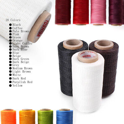 200M 150D 1MM Leather Sewing Waxed Wax Thread Hand Stitching Cord Craft DIY Tool