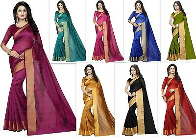 Designer bollywood pakistani cotton silk saree kanchipuram silk sari indian SS