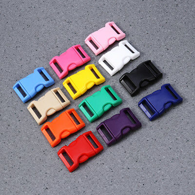 60x 20mm Plastic Side Quick Release Buckle Clip–Cord Strap Backpack Bag Colors