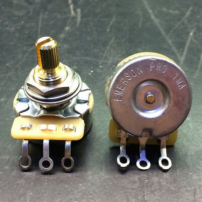 Emerson Pro Cts 1 Meg 1M 8% Tolerance Audio Taper Split Shaft Potentiometer