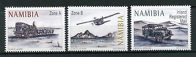 Namibia 2018 MNH Ox Wagon to Airplane 3v Set Cars Transport Aviation Stamps