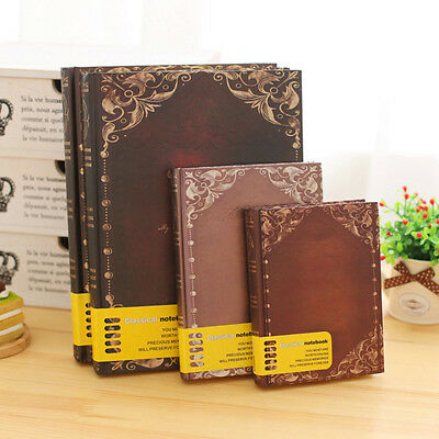 Retro Vintage Classic Notepad Pages Travel Journal Diary Notebook Sketchbook AU