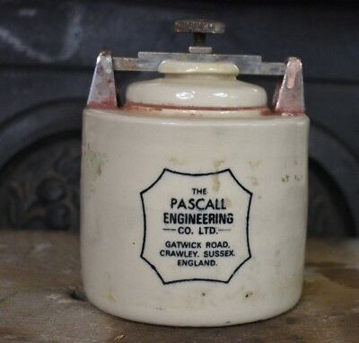 Vintage 1969 Pascall Engineering Insulation Scientific Testing Pottery Jar