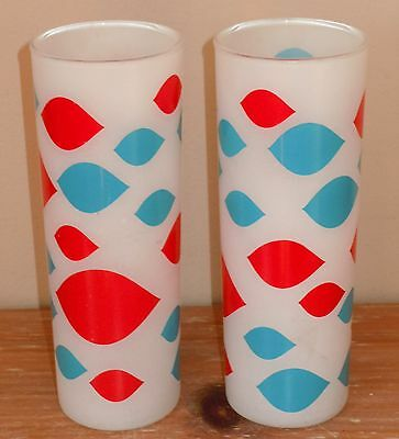 L@@k! ~Set Of Two~ Vintage Dairy Queen 12 Ounce Frosted Glass Tall Dq Ice Cream