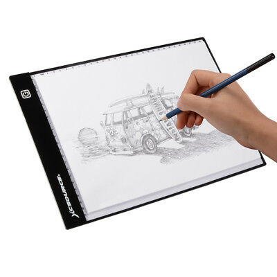 A4 LED Artist Slim Art Stencil Drawing Board Light Box Tracing Table Pad XC701
