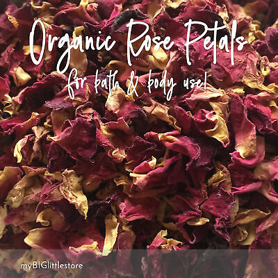 Organic Dried RED Rose Petals for Soap Candles Bath Salts & Craft - SYDNEY Post