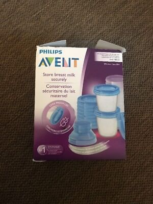 Philips AVENT Breast Milk Storage Cups, 6 Ounce (Pack of 10), New, Free Ship