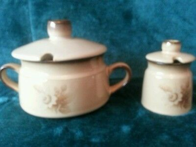 2x Denby Memories Lidded Sugar/Preserve/ Bowls/Pots In Excellent Condition