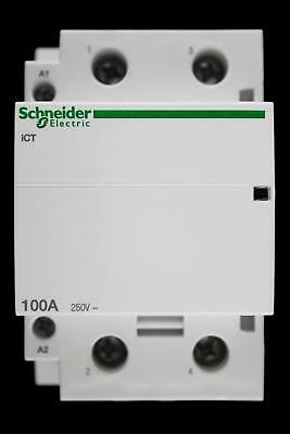 Schneider 100 Amp Double Pole No Contactor 220/240V Ict A9C20882 Acti9