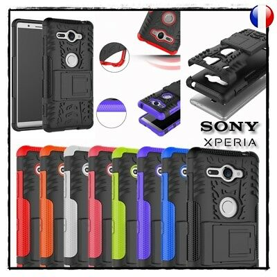 Etui Coque housse Antichocs Tyre Shockproof Case cover Sony Xperia XZ2 Compact
