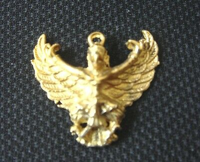 Thai Amulet Eagle Garuda Phaya Krut Talisman Power, Successful Necklace Pendant