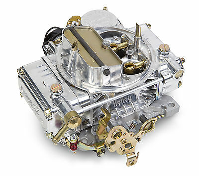 Holley 0-80459SA 750CFM Single Feed Inlet 4bbl Factory Refurb ALUMINUM Carb