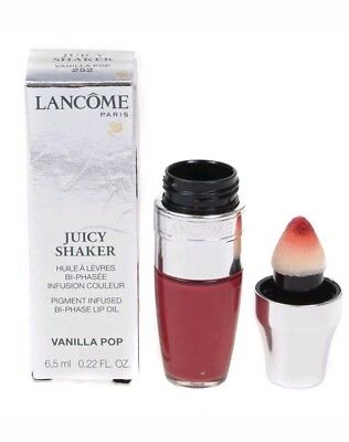 Lancome Juicy Shaker Pigment Infused Bi Phase Lip Oil 252 Vanilla Pop 6.5ml