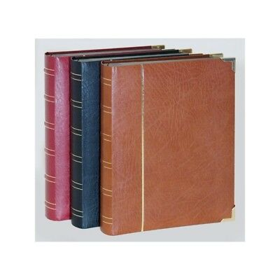 Prinz Royal Leather Stamp Stockbook - Black 30 Page / 60 Sides choice of colours