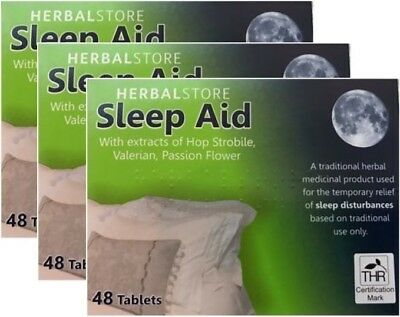 Herbal Store Sleep Aid 48 Tablets x 3 (144 Tablets) Sleeping Pills